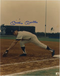"""Autographs:Photos, Mickey Mantle Signed Photograph. The 8x10"""" print that we makeavailable here is a unique action portrait of the man known a..."""