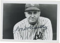 Autographs:Photos, Joe McCarthy Signed Photograph. Joe McCarthy's illustrious careerat the helm of major league baseball teams was capped by ...