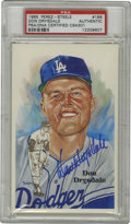 Autographs:Post Cards, Don Drysdale Signed Perez-Steele Postcard, PSA Authentic.Perez-Steele Galleries, famous for their Hall of Fame postcards ...