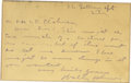 Autographs:Letters, Walter Johnson Autographed Letter. The noted HOF pitcher has signedthis brief letter in the form of an index card which mea...