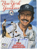 Autographs:Others, 1983 Billy Martin Signed New York Yankees Yearbook. Explosivepersonality Billy Martin had several stints as manager for th...