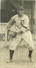 Baseball Collectibles:Photos, Circa 1918-20 Ty Cobb Photograph. This terrific image capturesplenty of the intensity with which the legendary Ty Cobb exh...