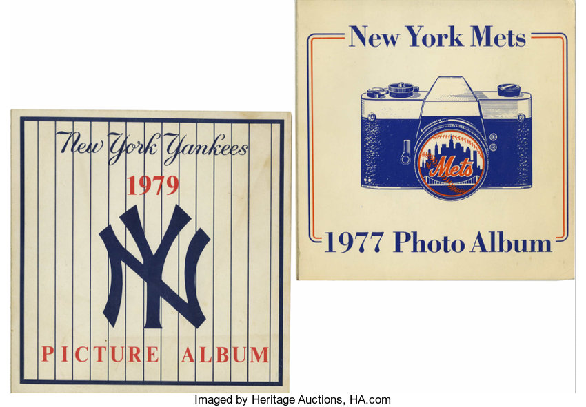 New York Yankees and Mets Photo Albums Lot of 2  Included here are