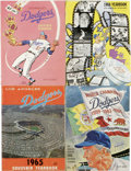 Baseball Collectibles:Publications, 1965-68 Los Angeles Dodgers Yearbooks Lot of 4. The run of officialLos Angeles Dodgers yearbooks is made available here, a...