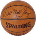 "Basketball Collectibles:Balls, Walt ""Clyde"" Frazier Single Signed Basketball. Seven-time All-StarWalt ""Clyde"" Frazier, an integral part of two NBA champi..."