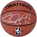 Basketball Collectibles:Balls, Karl Malone Single Signed Basketball. The Mailman delivers astunning 10/10 silver sharpie signature to the surface of the ...
