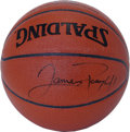 Basketball Collectibles:Balls, James Posey Singe Signed Basketball. An important member of thecurrent NBA title holder Miami Heat, James Posey played a b...