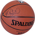 Basketball Collectibles:Balls, Mitch Richmond Single Signed Basketball. Two-time Olympic medalist and long-time NBA shooting aficionado Mitch Richmond has...