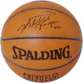 Basketball Collectibles:Balls, Keith Van Horn Single Signed Basketball. The Cleveland Cavaliersgame-issue Spalding basketball seen here dons a rich sharp...
