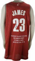 Basketball Collectibles:Others, LeBron James Signed Limited Edition UDA Jersey. Since his junioryear at St. Vincent-St. Marys, LeBron James was touted as ...