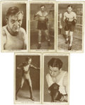 Boxing Cards:General, 1938 Churchman's Boxing Cards Group Lot of 5. In 1938 W.A. &A.C. Churchman released this set of boxing personalities consi...