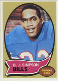 Football Cards:Singles (1970-Now), 1970 Topps O.J. Simpson #90. Great high-grade example of Hall ofFame running back O.J. Simpson's rookie card from the 1970...