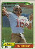 Football Cards:Singles (1970-Now), 1981 Topps Joe Montana #216. Excellent example of Joe Cool's rookieentry from the 1981 Topps football issue, preserved to ...