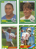 Football Cards:Lots, 1981-89 Football Rookie Cards Group Lot of 4. Each of the players featured in this lot has provided one rookie card release...