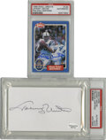 Football Collectibles:Others, Johnny Unitas PSA-Graded Signatures, PSA-Graded Lot of 2. Two exceptional exemplars of Johnny Unitas' coveted signature are...