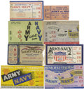 Football Collectibles:Tickets, Army vs. Navy Football and Basketball Tickets Group Lot of 8. Included in this offering are mementos from the classic matchu...