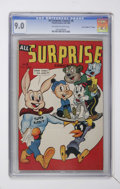 "Golden Age (1938-1955):Funny Animal, All Surprise #8 Davis Crippen (""D"" Copy) pedigree (Timely, 1945)CGC VF/NM 9.0 Off-white to white pages...."