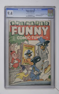 """Golden Age (1938-1955):Funny Animal, Funny Tunes #21 Davis Crippen (""""D"""" Copy) pedigree (Timely, 1946)CGC NM 9.4 Off-white to white pages...."""