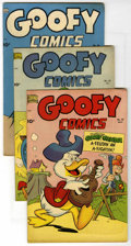 "Golden Age (1938-1955):Funny Animal, Goofy Comics #42-44 Group - Davis Crippen (""D"" Copy) pedigree(Nedor Publications, 1951).... (Total: 3)"