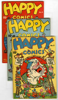 "Golden Age (1938-1955):Funny Animal, Happy Comics #2-5 Group - Davis Crippen (""D"" Copy) pedigree(Standard, 1943-44).... (Total: 4)"