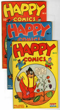 "Golden Age (1938-1955):Funny Animal, Happy Comics #6-9 Group - Davis Crippen (""D"" Copy) pedigree(Standard, 1944-45).... (Total: 4)"