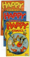 "Golden Age (1938-1955):Funny Animal, Happy Comics #11-14 Group - Davis Crippen (""D"" Copy) pedigree(Standard, 1945-46).... (Total: 5)"
