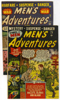 "Golden Age (1938-1955):War, Men's Adventures #9 and 17 Group - Davis Crippen (""D"" Copy)pedigree (Atlas, 1951-52) Condition: Average FN+.... (Total: 2)"