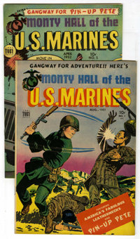 """Monty Hall of the U. S. Marines #1 and 5 Group - Davis Crippen (""""D"""" Copy) pedigree (Toby Publishing, 1951-52)..."""