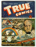 Golden Age (1938-1955):Non-Fiction, True Comics #1 (True, 1941) Condition: VG/FN....