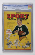 "Golden Age (1938-1955):Non-Fiction, True Sport Picture Stories V2#5 Davis Crippen (""D"" Copy) pedigree(Street & Smith, 1944) CGC VF/NM 9.0 Off-white to white page..."