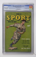 """Golden Age (1938-1955):Miscellaneous, True Sport Picture Stories V2#7 Davis Crippen (""""D"""" Copy) pedigree(Street & Smith, 1944) CGC NM- 9.2 Off-white to white pages...."""
