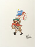 Original Comic Art:Miscellaneous, Friz Freleng - Desert Storm Yosemite Sam Print with Friz FrelengSignature Original Art (undated)....