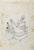 Original Comic Art:Covers, Warren Kremer - Baby Huey and Papa #22 Cover Original Art (Harvey,1965)....