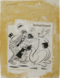 Original Comic Art:Covers, Warren Kremer - Mutt and Jeff #146 Cover Original Art (Harvey,1965)....