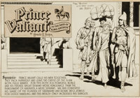 Hal Foster Prince Valiant Val and Aleta Sunday Comic Strip Panel Original Art (King Features Syndicate, c. 1946)