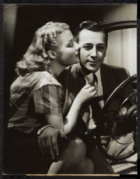 "Ann Sheridan & George Raft in They Drive by Night (Warner Brothers, 1940). Photo (10.25"" X 13""). Drama..."