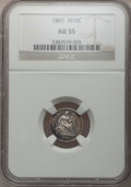 Seated Half Dimes: , 1861 H10C AU55 NGC. NGC Census: (28/453). PCGS Population (32/362).Mintage: 3,361,000. Numismedia Wsl. Price for problem f...