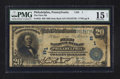 National Bank Notes:Pennsylvania, Philadelphia, PA - $20 1902 Date Back Fr. 642 The First NB Ch. #(E)1. ...