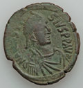 Ancients:Ancient Lots  , Ancients: BYZANTINE. Anastasius - Justin II (AD 491-578). Lot oftwo AE folles. ... (Total: 2 coins)