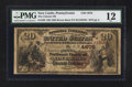 National Bank Notes:Pennsylvania, New Castle, PA - $20 1882 Brown Back Fr. 499 The Citizens NB Ch. #(E)4676. ...
