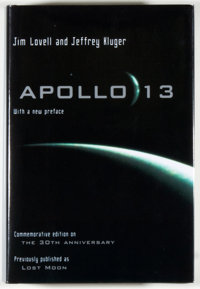 Jim Lovell and Jeffrey Kluger. SIGNED BY LOVELL. Apollo 13 [Lost Moon]. Boston: Houghton Miffli