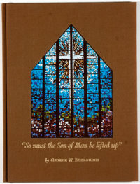"""George W. Burroughs. SIGNED by Carl Hertzog. """"So must the Son of Man be lifted up"""""""