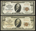 National Bank Notes:Virginia, Norfolk, VA - $10 1929 Ty. 1 Norfolk NB of Commerce & TrustsCh. # 6032; $10 1929 Ty. 1 The Seaboard Citizens NB Ch.... (Total:2 notes)