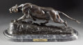 Bronze:European, A PATINATED BRONZE FIGURE AFTER ISIDORE JULES BONHEUR (FRENCH,1827-1901): LIONESS . Circa 1900. Marks: I. Bon...