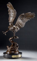 Bronze:European, A PATINATED BRONZE FIGURE AFTER JULES MOIGNIEZ (FRENCH, 1835-1894):EAGLE . 19th century. Marks: J. MOIGNIEZ. 17...