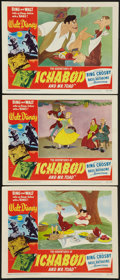 """Movie Posters:Animated, The Adventures of Ichabod and Mr. Toad (RKO, 1949). Lobby Cards (3)(11"""" X 14""""). Animated.. ... (Total: 3 Items)"""