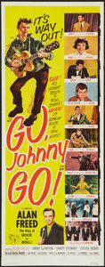 "Movie Posters:Rock and Roll, Go, Johnny, Go! (Hal Roach, 1959). Insert (14"" X 36""). Rock andRoll.. ..."