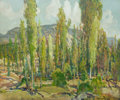 Paintings, CHARLES P. REIFFEL (American, 1862-1942). Eucalyptus Grove. Oil on board . 20 x 24 inches (50.8 x 61.0 cm). Signed lower...