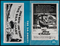 "The Sea Chase (Warner Brothers, 1955). Uncut Pressbook (20 Pages, 11"" X 17""). War"