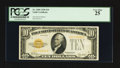Small Size:Gold Certificates, Fr. 2400 $10 1928 Gold Certificate. PCGS Very Fine 25.. ...